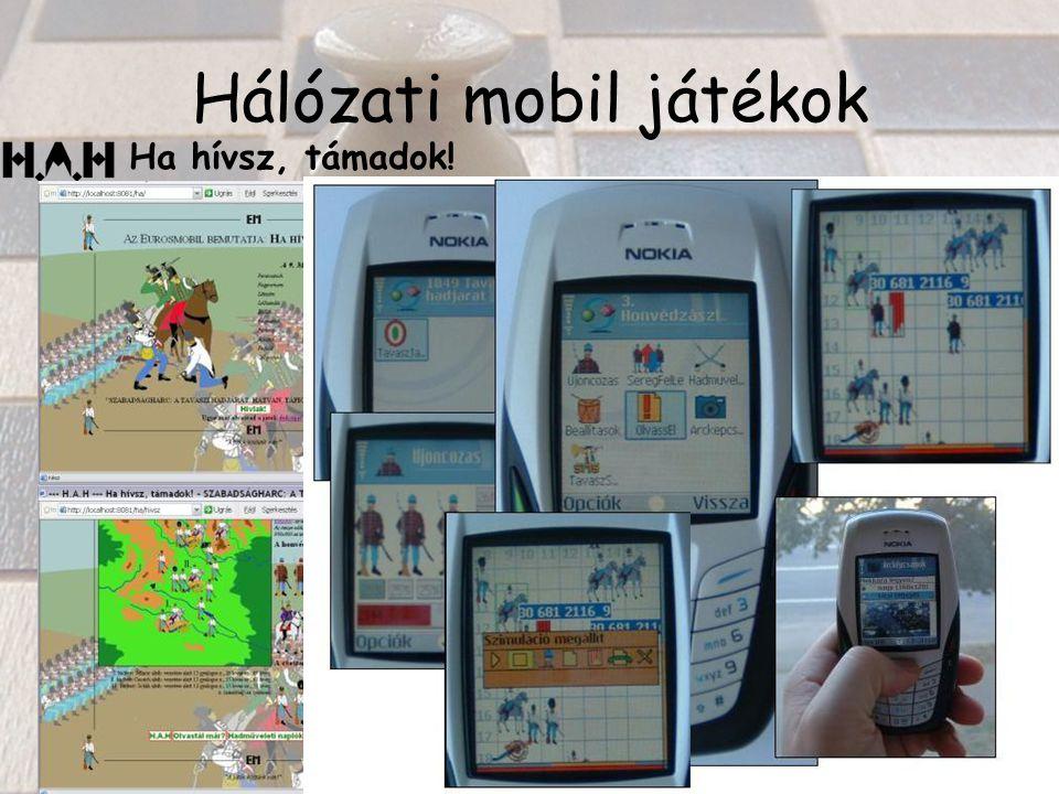 Hálózati mobil játékok Ha hívsz, támadok!