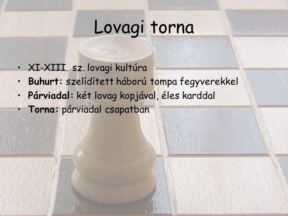 Lovagi torna XI-XIII. sz.