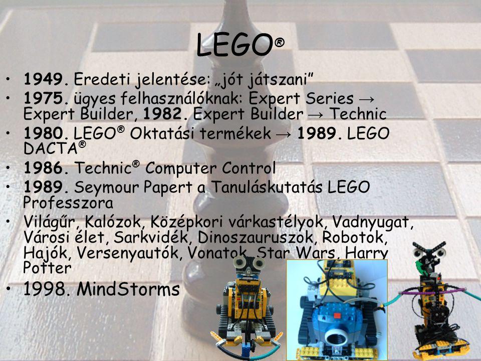 """LEGO ® 1949. Eredeti jelentése: """"jót játszani 1975."""