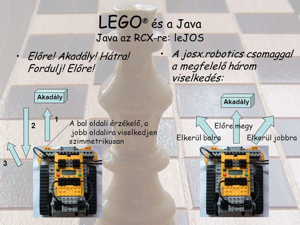 LEGO ® és a Java Java az RCX-re: leJOS Előre. Akadály.