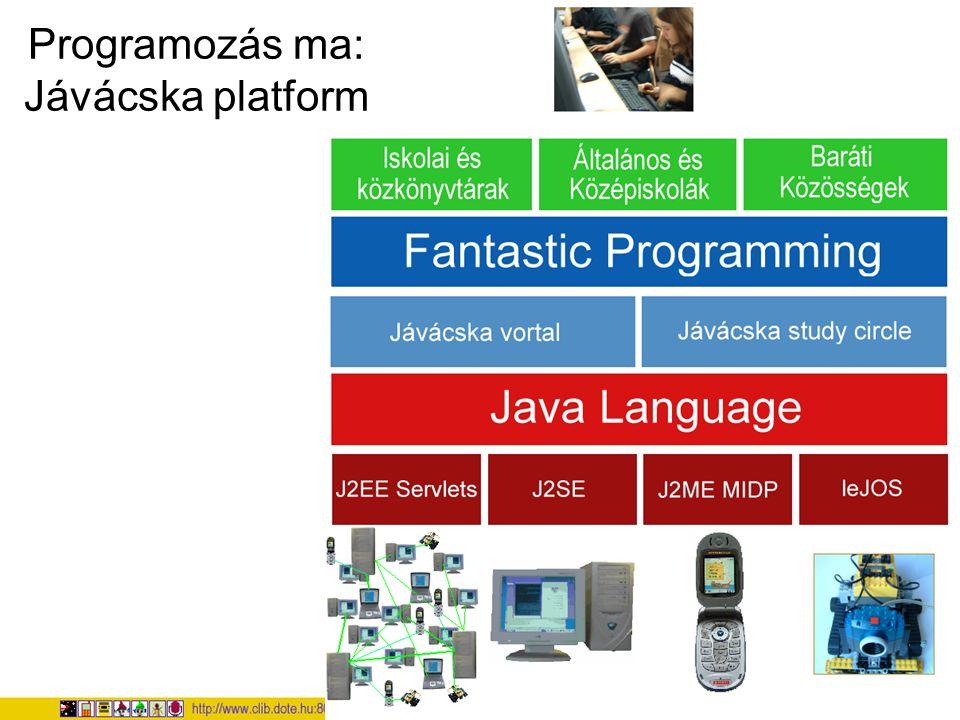 Programozás ma: Jávácska platform