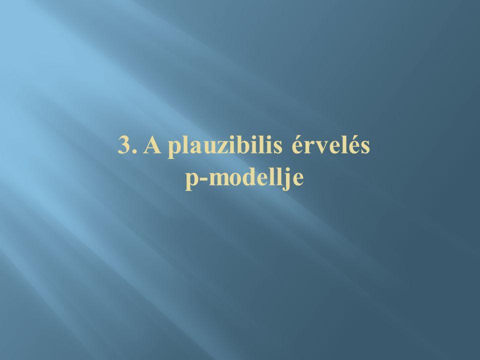 3. A plauzibilis érvelés p-modellje