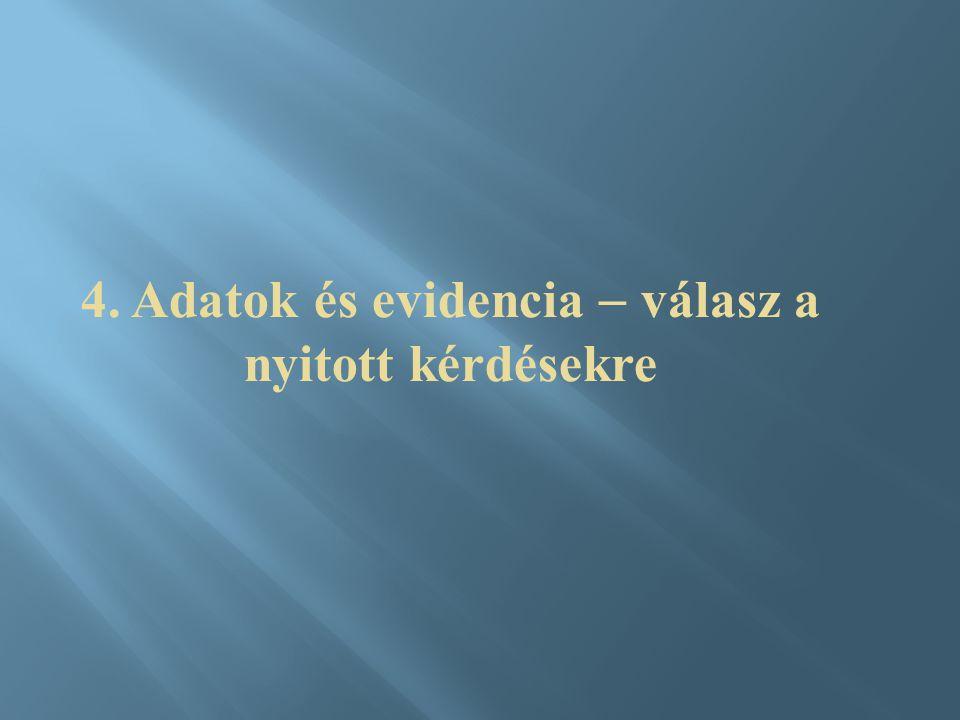 4. Adatok és evidencia  válasz a nyitott kérdésekre