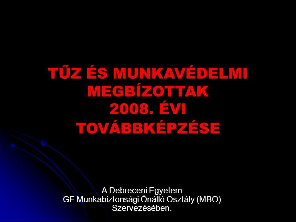 TŰZ ÉS MUNKAVÉDELMI MEGBÍZOTTAK 2008.