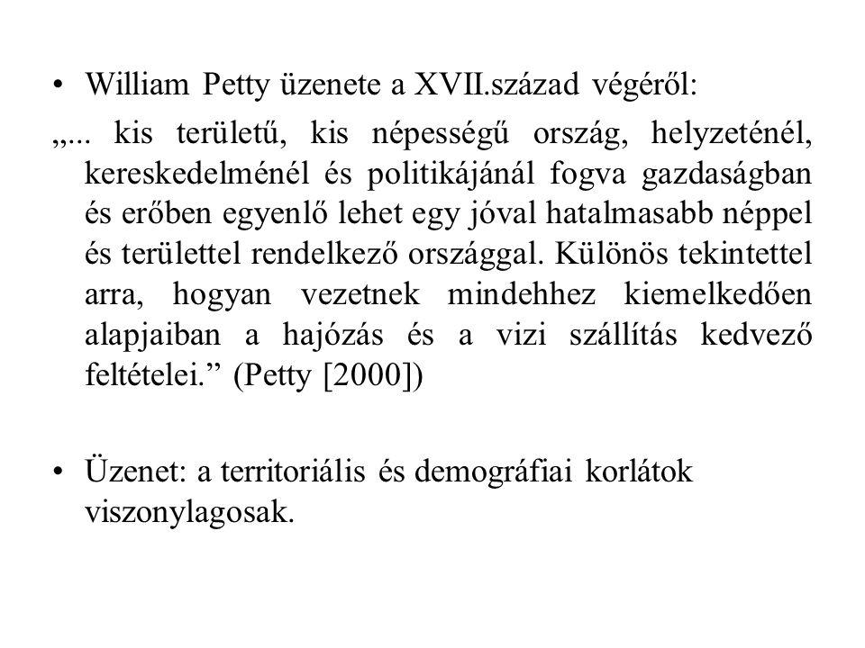 """William Petty üzenete a XVII.század végéről: """"..."""