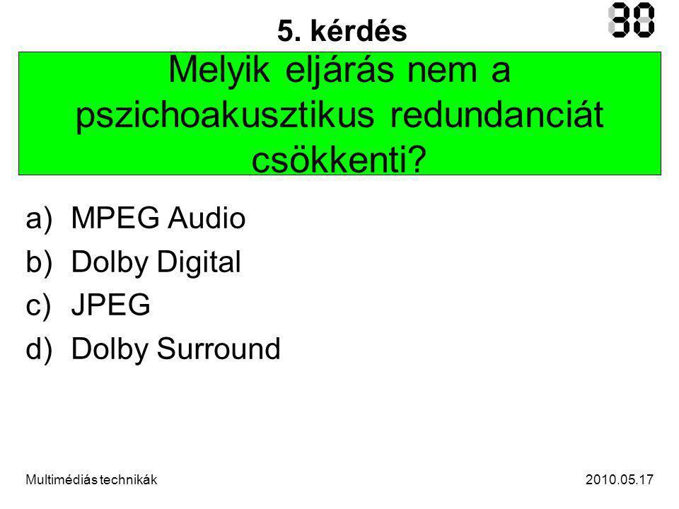 2010.05.17Multimédiás technikák 6.kérdés Melyik eszköz használ digitálisan rögzített hangot.