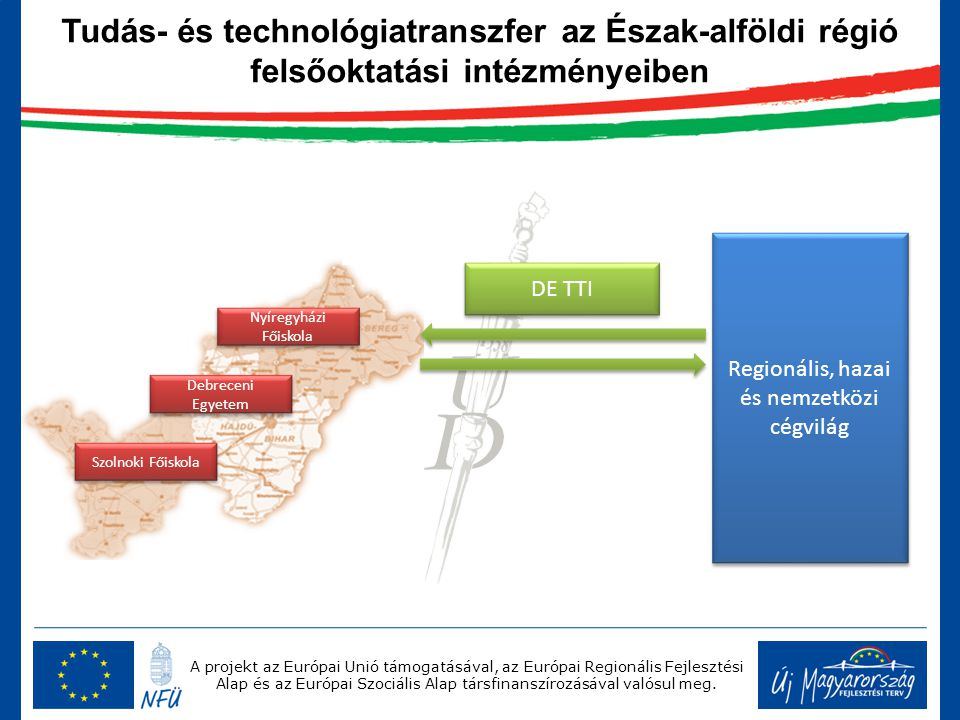A projekt az Európai Unió támogatásával, az Európai Regionális Fejlesztési Alap és az Európai Szociális Alap társfinanszírozásával valósul meg. Region