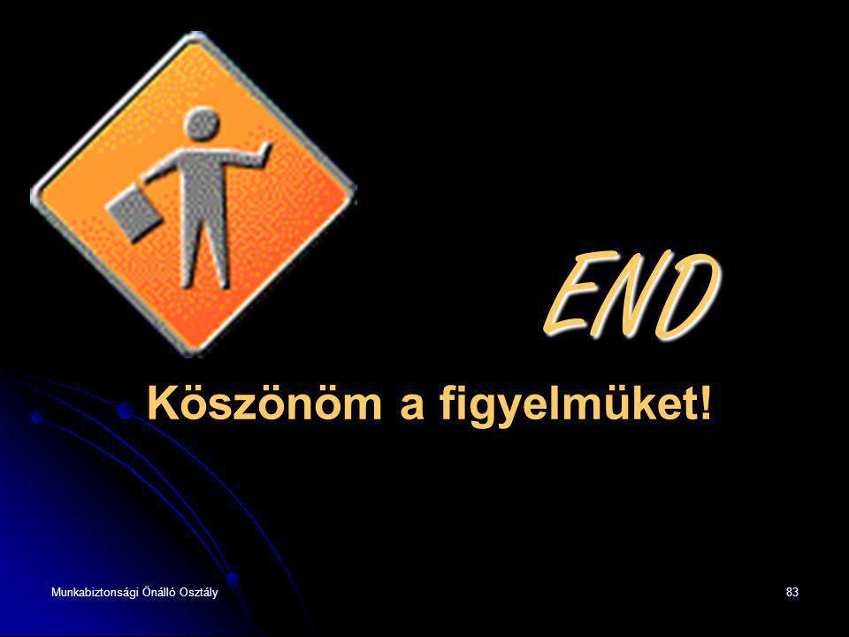 Munkabiztonsági Önálló Osztály83 END END Köszönöm a figyelmüket!