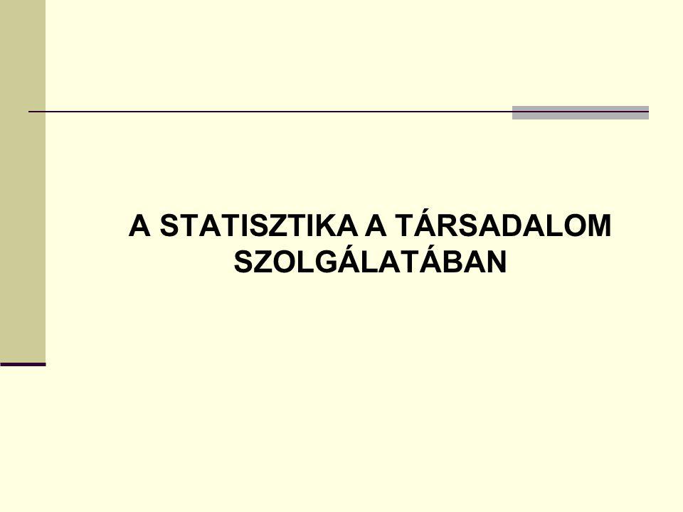 A STATISZTIKA A TÁRSADALOM SZOLGÁLATÁBAN