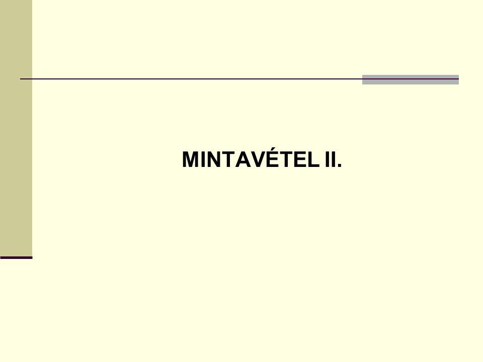 MINTAVÉTEL II.