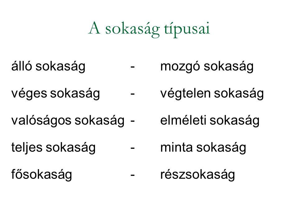 STATISZTIKAI ALAPMŰVELETEK 1.