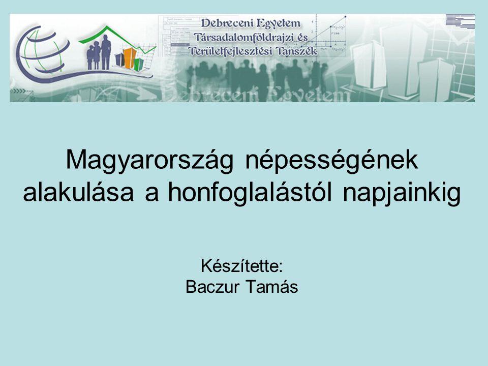 Magyarország népességének alakulása a honfoglalástól napjainkig Készítette: Baczur Tamás