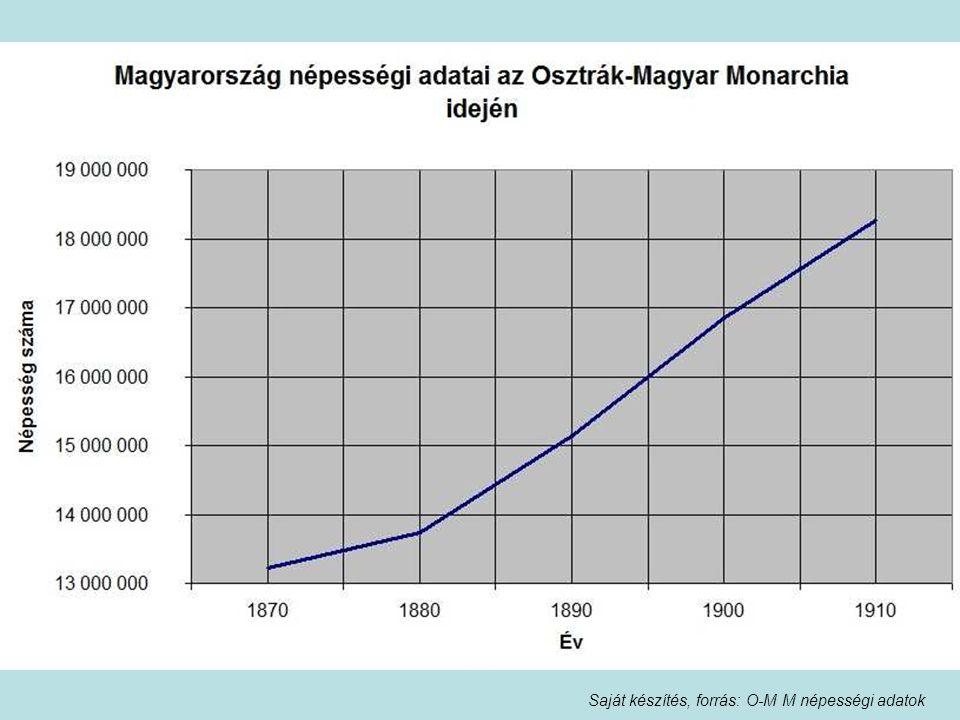 Saját készítés, forrás: O-M M népességi adatok