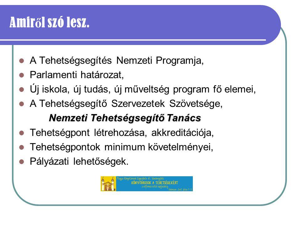 A Magyar Géniusz Program Integrált Tehetségsegítő Program Programok elterjesztése, Új programok indítása, Hátrányos helyzetűek segítése, Hálózatépítés, Tehetséges fiatalok önszerveződésének segítés Iskolai programok: Egyéni fejlesztési programok, Kreatív tanulmányi versenyek szervezése, Hálózatépítés.