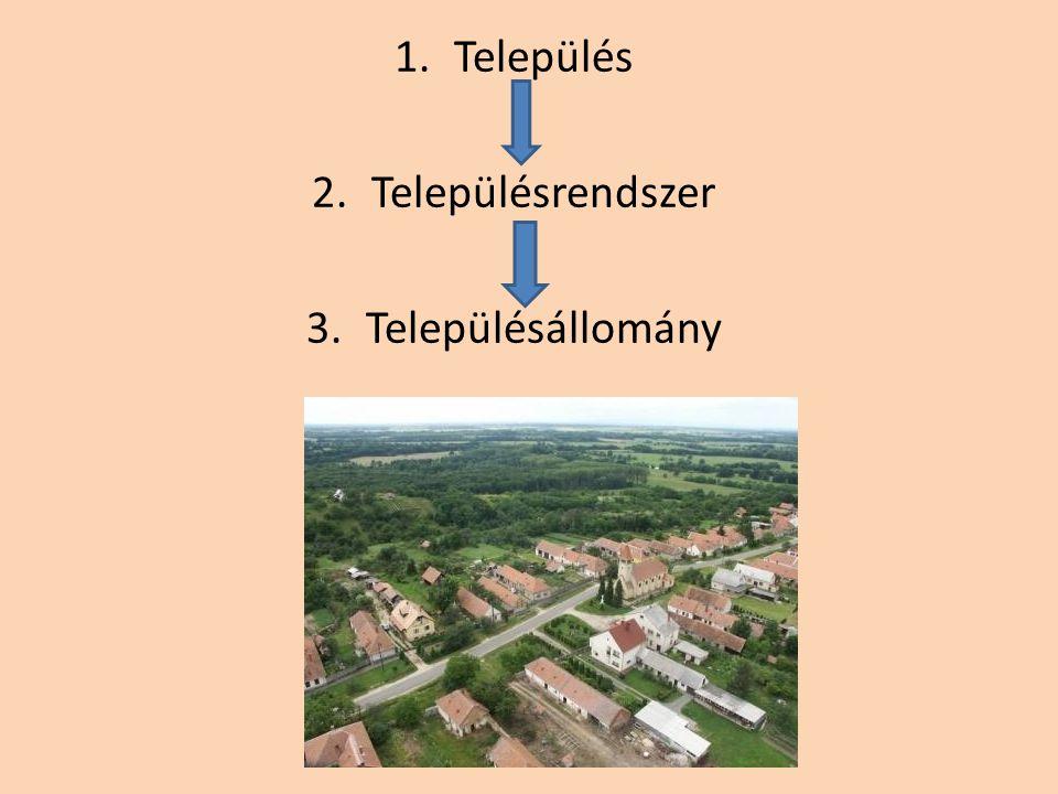 1.Település 2.Településrendszer 3.Településállomány