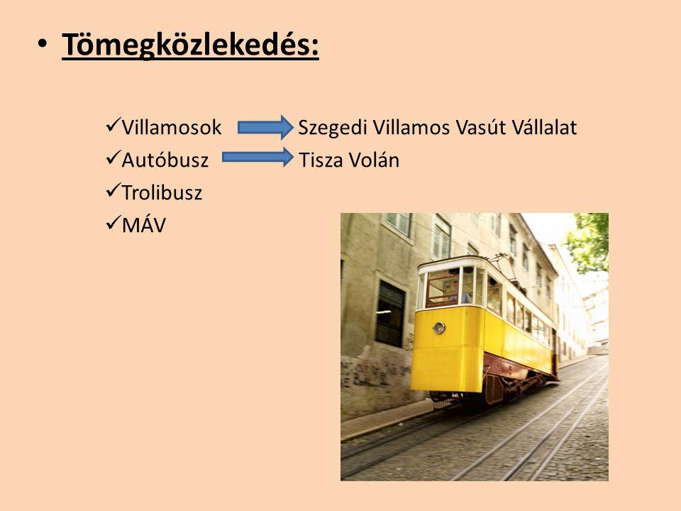 Tömegközlekedés: Villamosok Szegedi Villamos Vasút Vállalat Autóbusz Tisza Volán Trolibusz MÁV