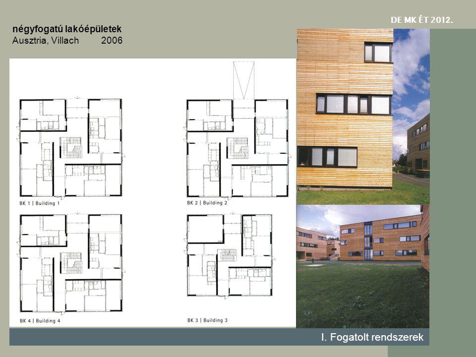 DE MK ÉT 201 2. I. Fogatolt rendszerek négyfogatú lakóépületek Ausztria, Villach 2006