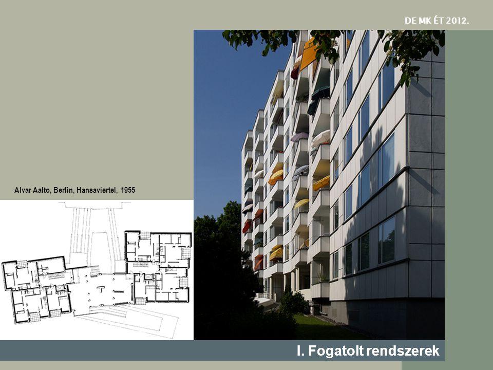 DE MK ÉT 201 2. I. Fogatolt rendszerek Alvar Aalto, Berlin, Hansaviertel, 1955