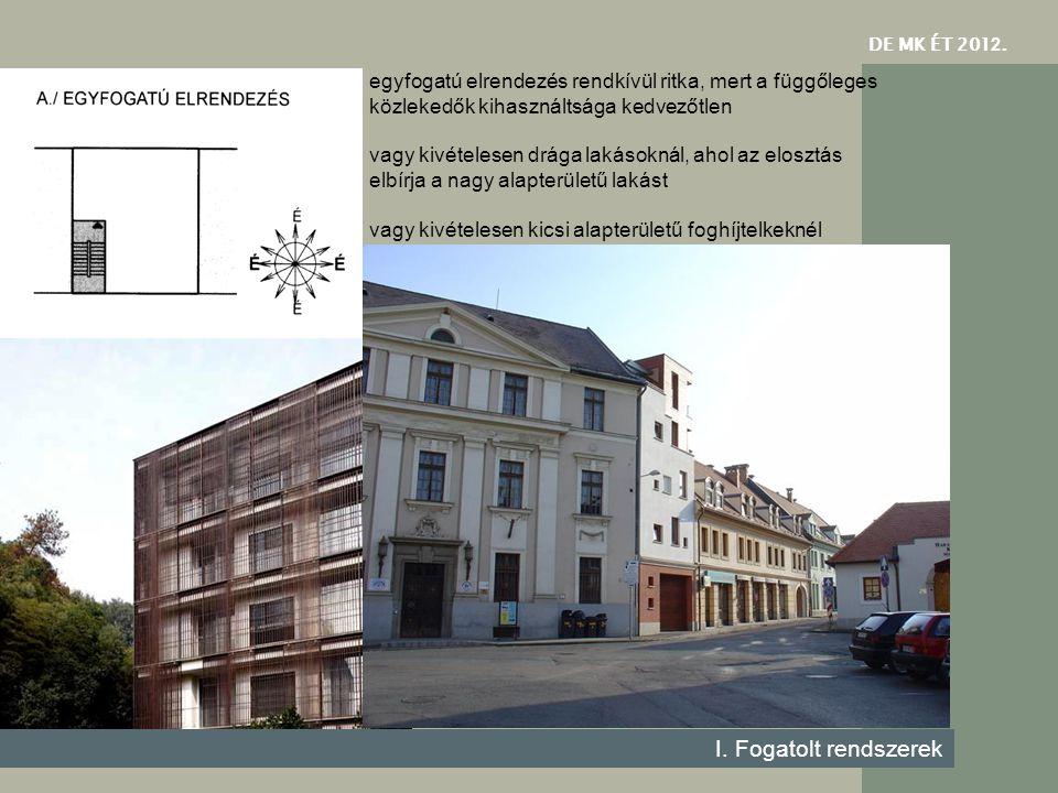 DE MK ÉT 201 2. I. Fogatolt rendszerek egyfogatú elrendezés Huggenberger Arhitekten Zürich 2006