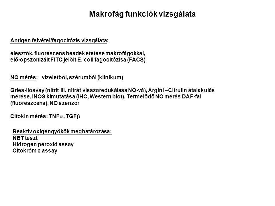 NO mérés: vizeletből, szérumból (klinikum) Gries-Ilosvay (nitrit ill.