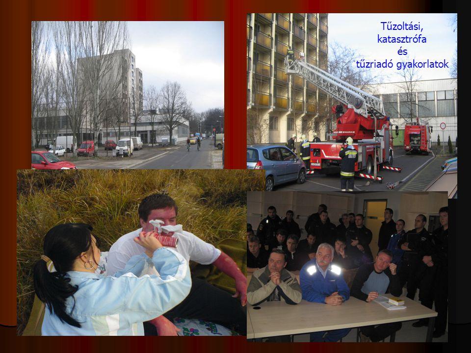 Tűzoltási, katasztrófa és tűzriadó gyakorlatok