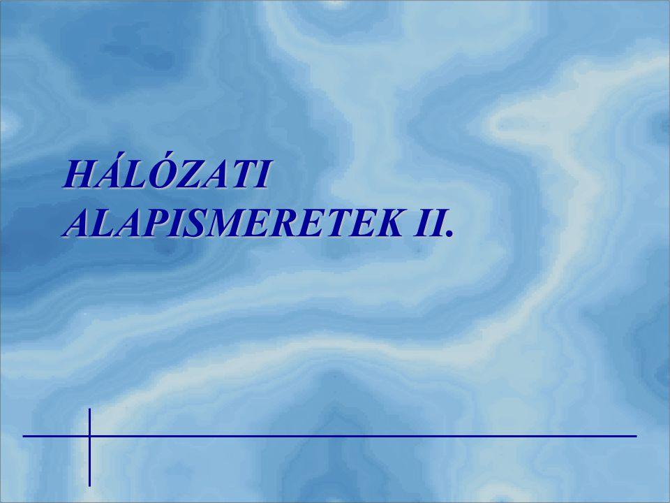 HÁLÓZATI ALAPISMERETEK II.