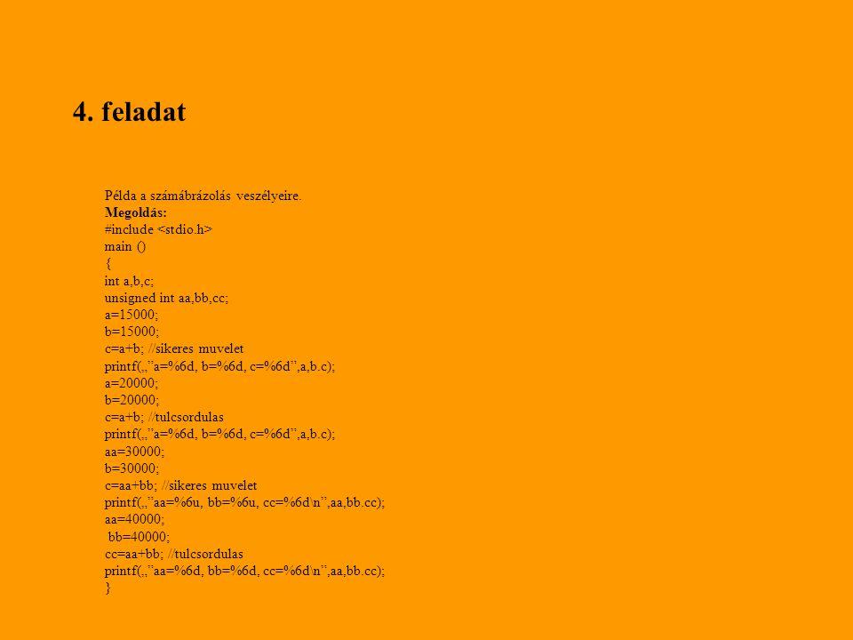 #include int main() { enum het { Hetfo, Kedd, Szerda, Csutortok, Pentek, Szombat, Vasarnap } nap; typedef enum { piros, zold, sarga } colors; colors col; printf( Milyen napon szeretnél almát enni.
