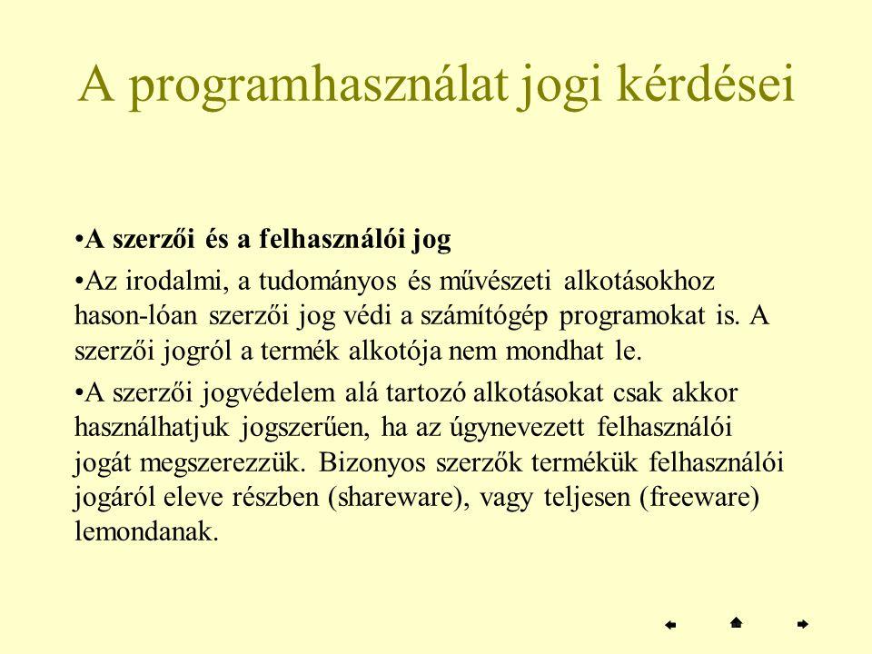 A kezelőfelület jellege szerinti osztályozás (folytatás a következő oldalon) E szempont szerint –karakteres –és grafikus rendszerekről szokás beszélni.