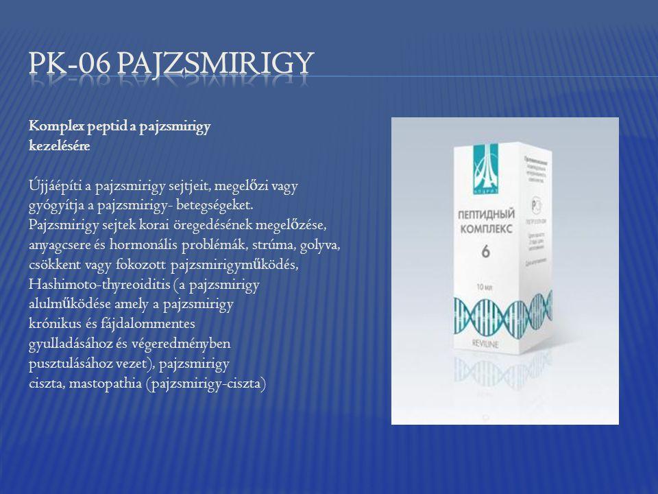Komplex peptid a pajzsmirigy kezelésére Újjáépíti a pajzsmirigy sejtjeit, megel ő zi vagy gyógyítja a pajzsmirigy- betegségeket. Pajzsmirigy sejtek ko