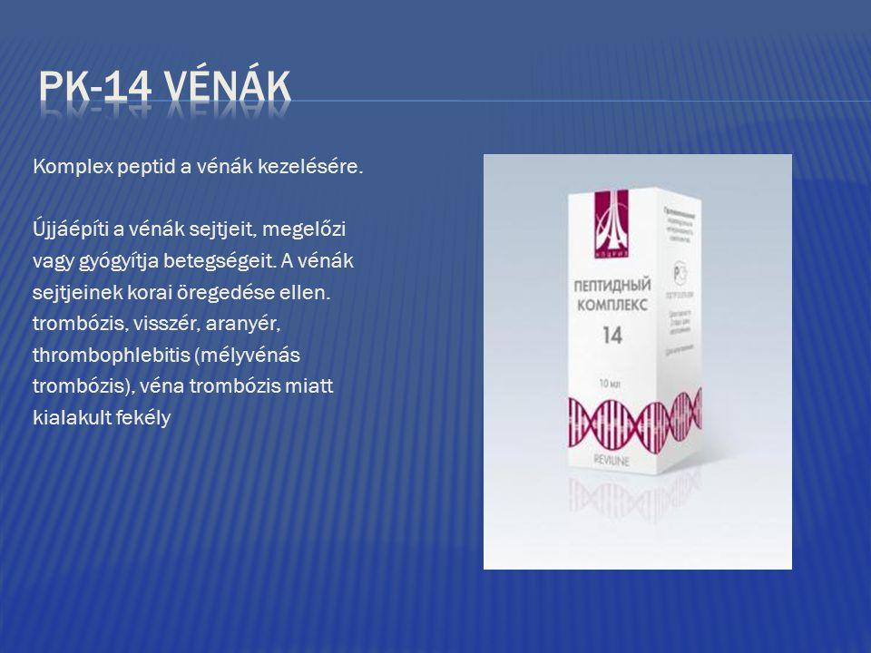 Komplex peptid a vénák kezelésére. Újjáépíti a vénák sejtjeit, megelőzi vagy gyógyítja betegségeit. A vénák sejtjeinek korai öregedése ellen. trombózi