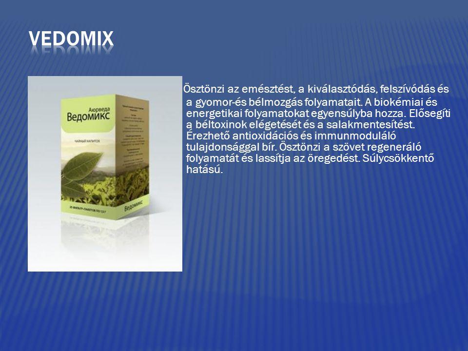 Ösztönzi az emésztést, a kiválasztódás, felszívódás és a gyomor-és bélmozgás folyamatait. A biokémiai és energetikai folyamatokat egyensúlyba hozza. E