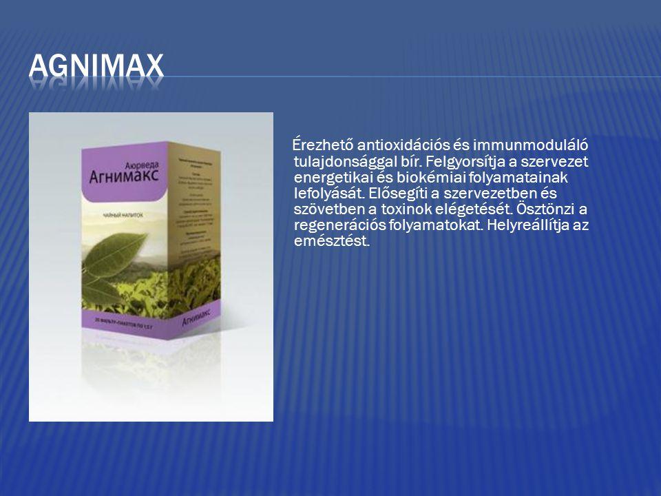Érezhető antioxidációs és immunmoduláló tulajdonsággal bír. Felgyorsítja a szervezet energetikai és biokémiai folyamatainak lefolyását. Elősegíti a sz