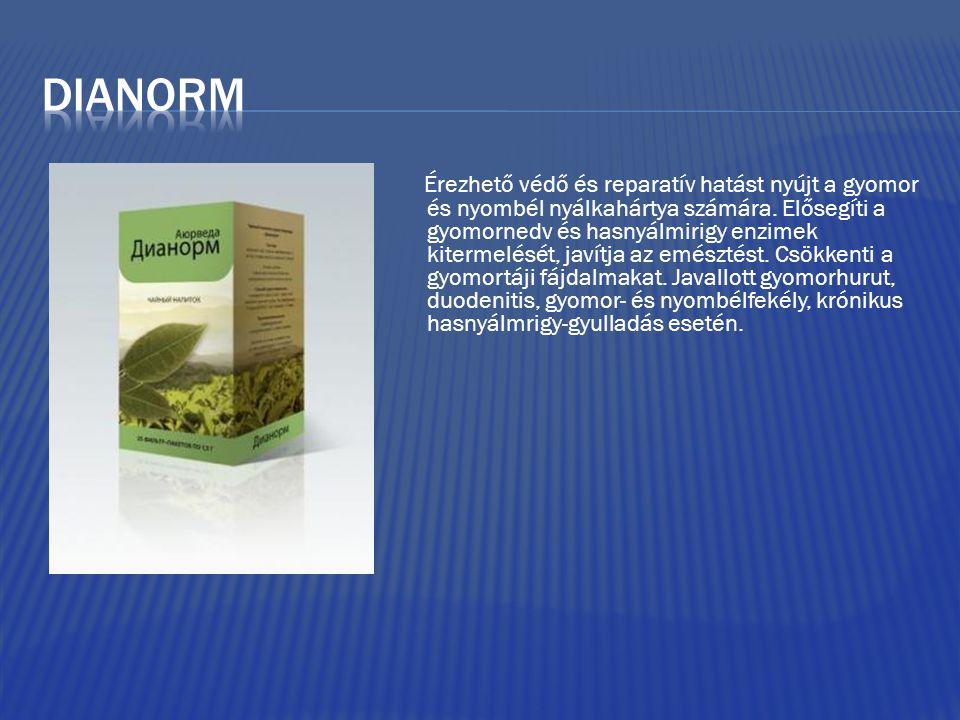 Érezhető védő és reparatív hatást nyújt a gyomor és nyombél nyálkahártya számára. Elősegíti a gyomornedv és hasnyálmirigy enzimek kitermelését, javítj