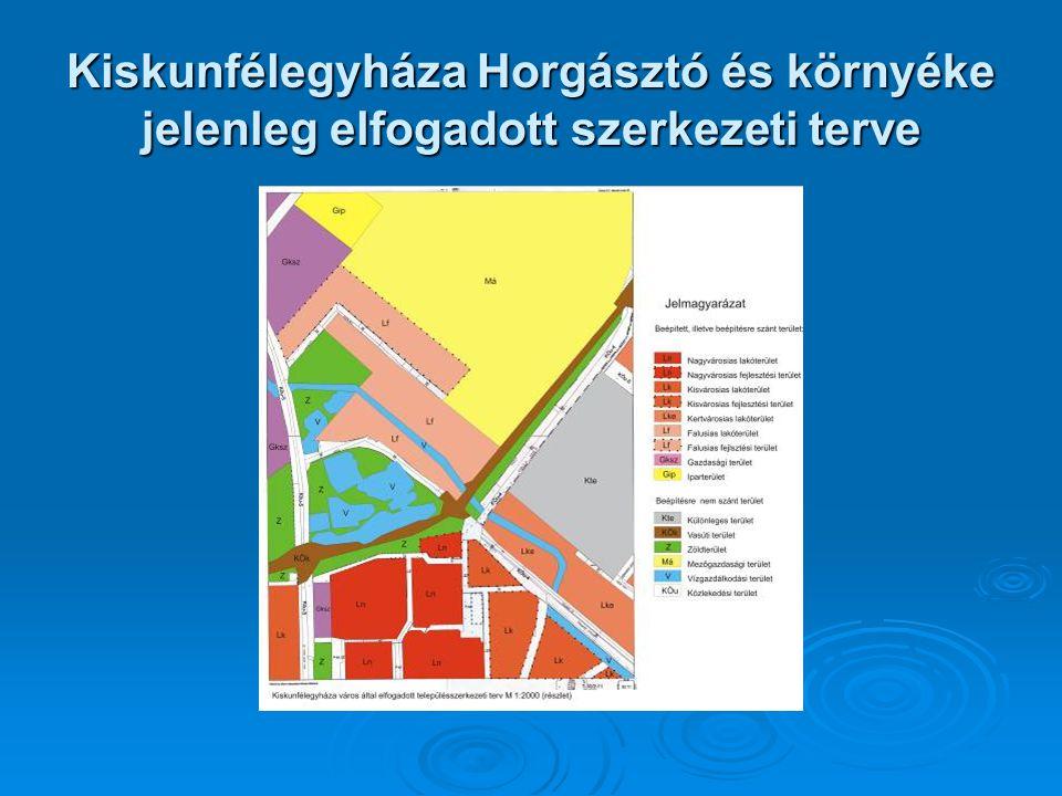 Kiskunfélegyháza Horgásztó és környéke jelenleg elfogadott szerkezeti terve