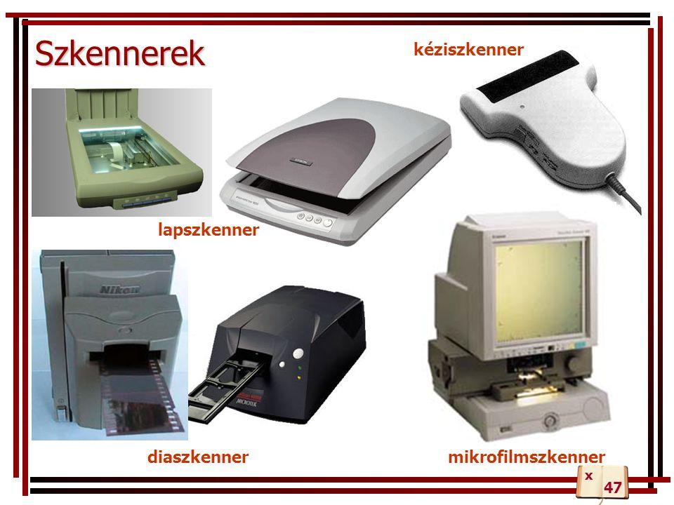 Szkennerek diaszkennermikrofilmszkenner lapszkenner kéziszkenner 47 x
