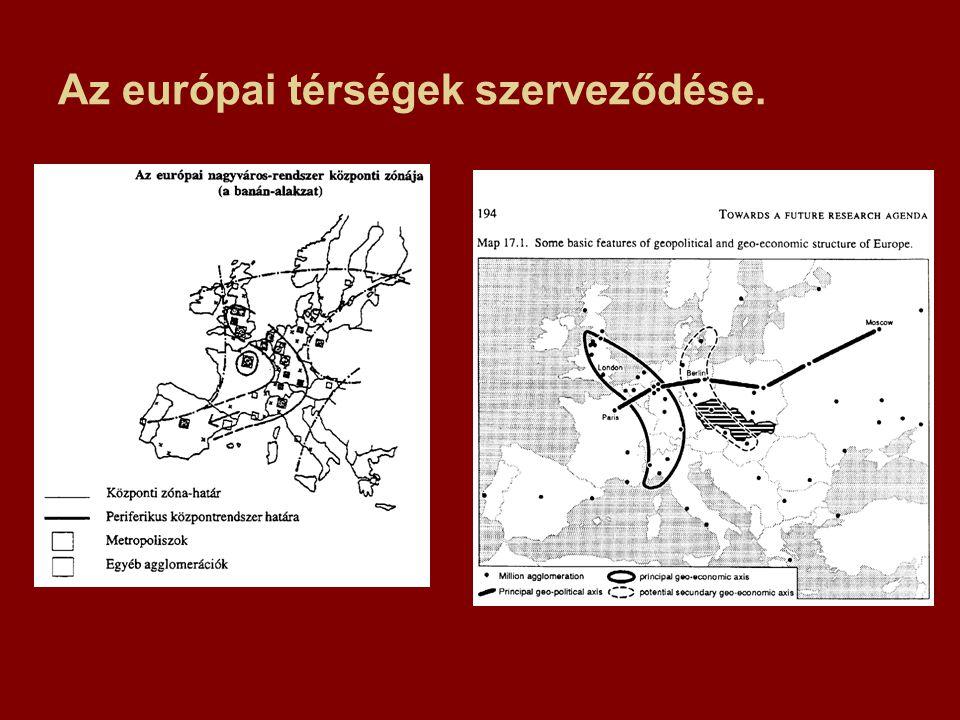 Az európai térségek szerveződése.