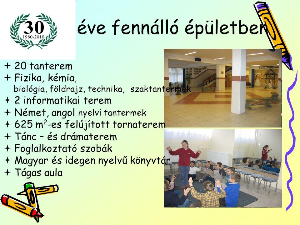 Német két tanítási nyelvű oktatás az 1.a osztályban Minden évfolyamon heti 5 németóra van.