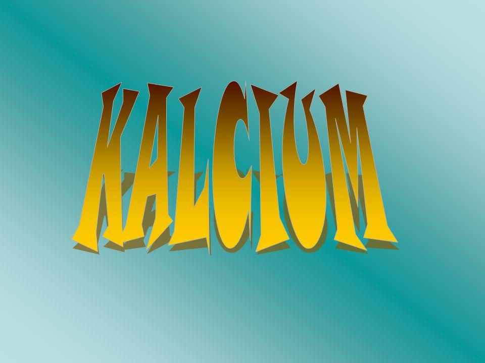Főbb adatok Név: Kalcium (Calcium) Vegyjel: Ca Rendszám: 20 Atomtömeg: 40,078 g/mól Olvadáspont: 842 °C Forráspont: 1484 °C Elektronegativitás: 1,00 Vegyületei: Kalcium-karbonát (CaCO3) Kalcium-fluorid (CaF2) Kalcium-hidrid (CaH2) Kalcium-klorid (CaCl2) Kalcium-nitrát (Ca(NO3)2) Kalcium-szulfát (CaSO4) Kalcium-bromid (CaBr2) Kalcium-jodid (CaI2) Kalcium-oxid (CaO) Kalcium-hidroxid (Ca(OH)2) Kalcium-peroxid (CaO2)