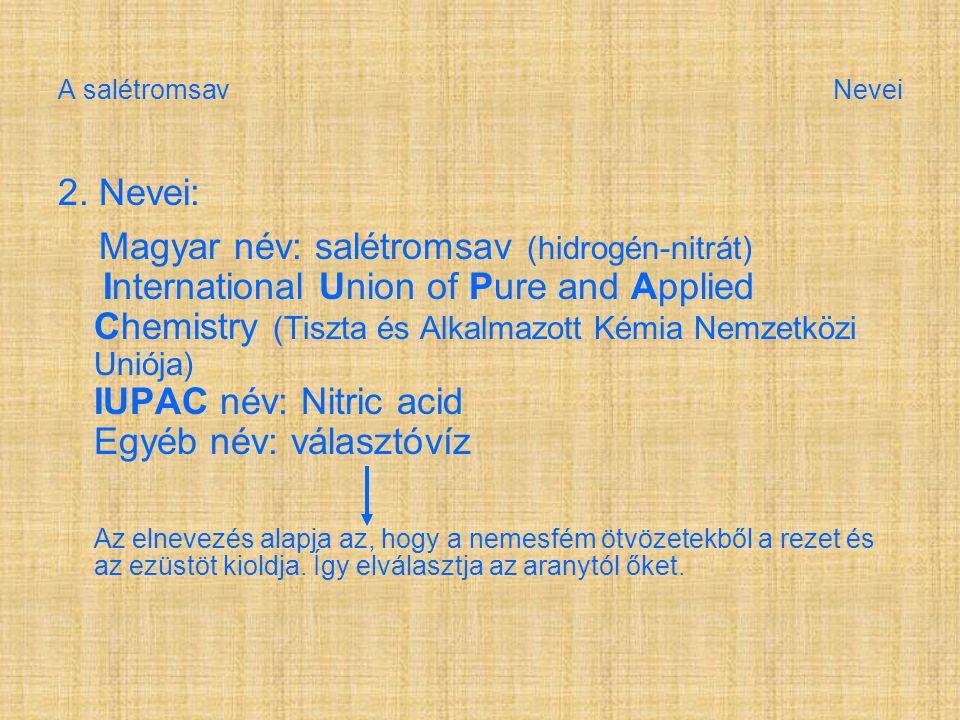 A salétromsav Nevei 2.