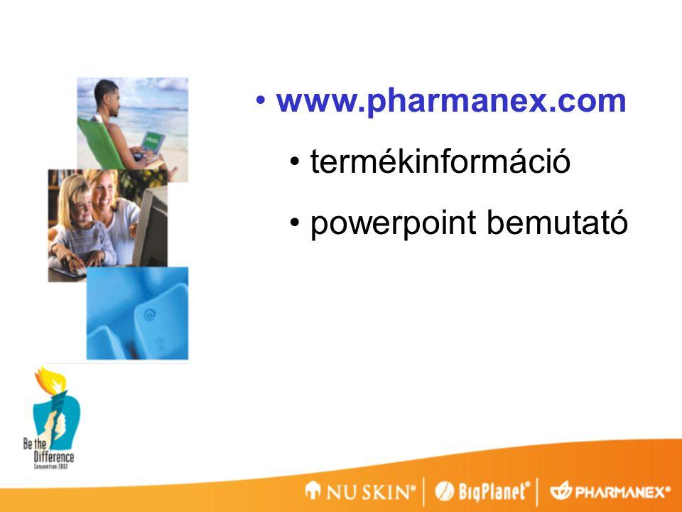 www.pharmanex.com termékinformáció powerpoint bemutató