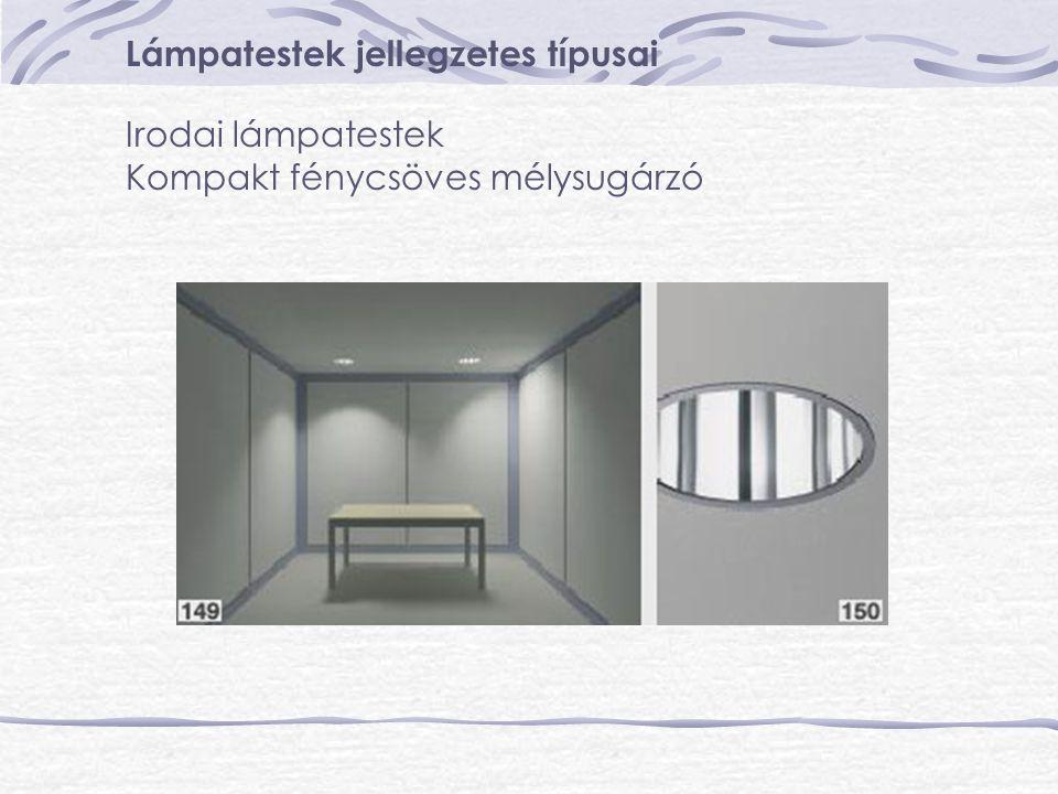 Lámpatestek jellegzetes típusai Irodai lámpatestek Kompakt fénycsöves mélysugárzó