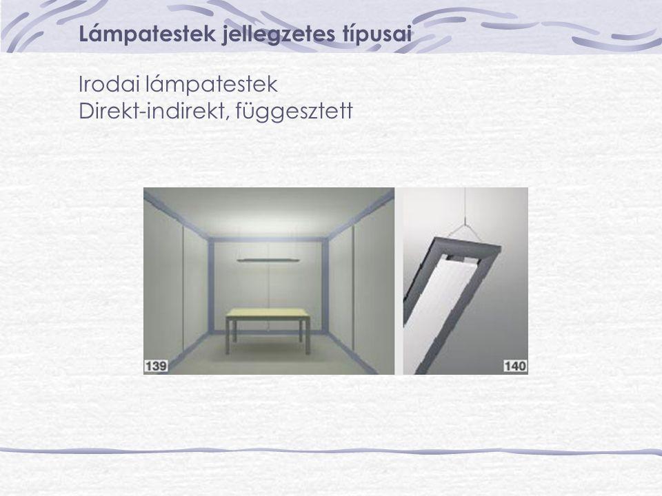 Lámpatestek jellegzetes típusai Irodai lámpatestek Direkt-indirekt, függesztett