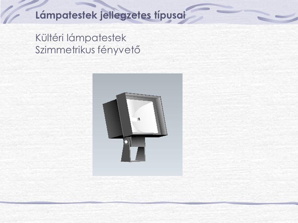 Lámpatestek jellegzetes típusai Kültéri lámpatestek Szimmetrikus fényvető