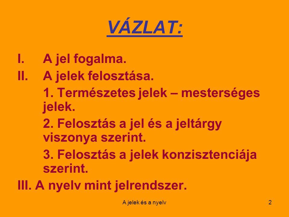 A jelek és a nyelv13 FONTOS!!.