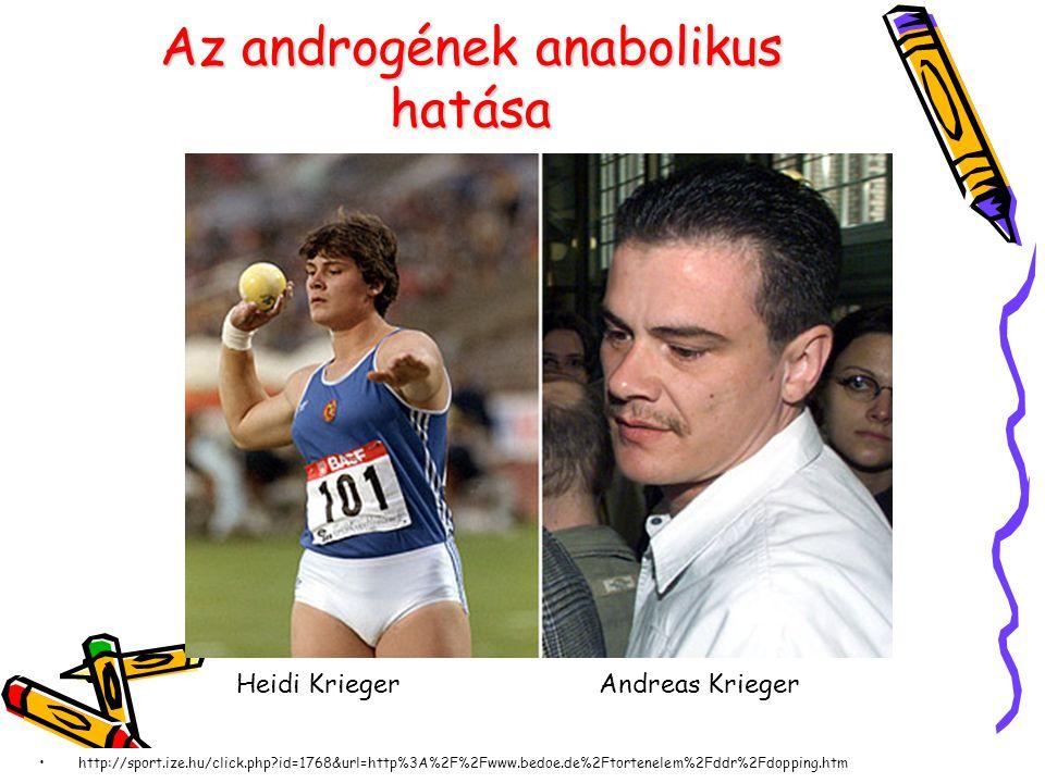 Az androgének anabolikus hatása http://sport.ize.hu/click.php?id=1768&url=http%3A%2F%2Fwww.bedoe.de%2Ftortenelem%2Fddr%2Fdopping.htm Heidi KriegerAndreas Krieger