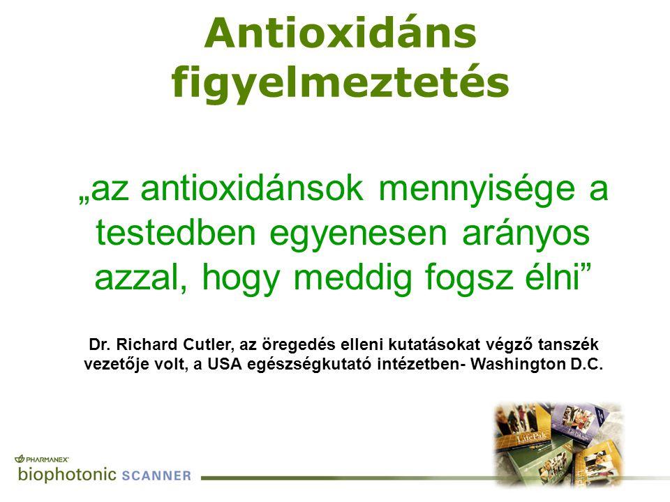 """""""az antioxidánsok mennyisége a testedben egyenesen arányos azzal, hogy meddig fogsz élni"""" Dr. Richard Cutler, az öregedés elleni kutatásokat végző tan"""