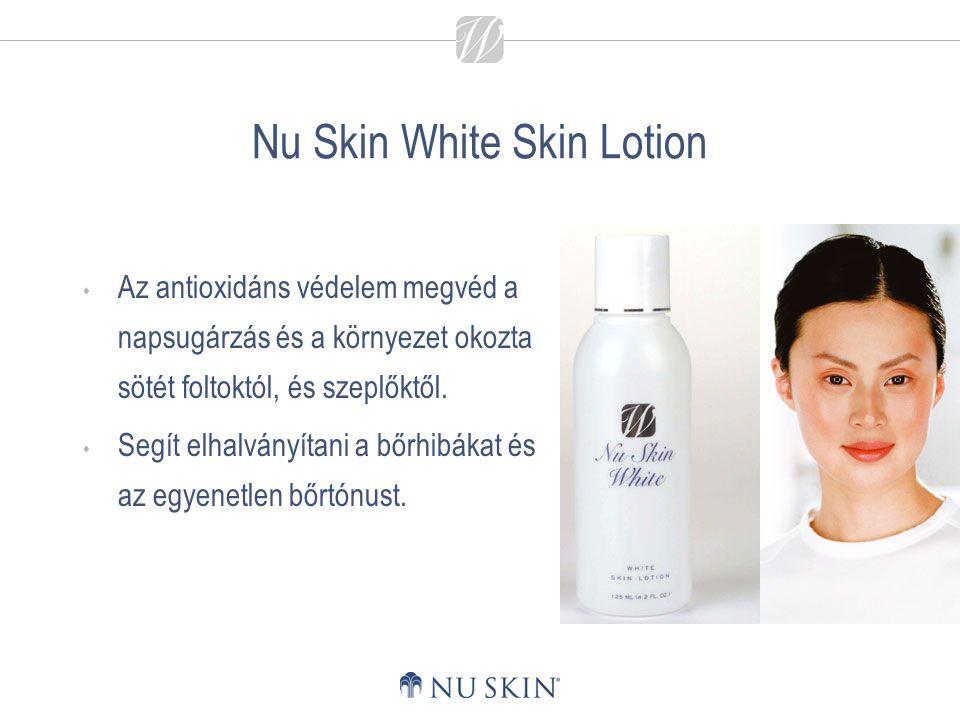 Nu Skin White Skin Lotion  Az antioxidáns védelem megvéd a napsugárzás és a környezet okozta sötét foltoktól, és szeplőktől.  Segít elhalványítani a