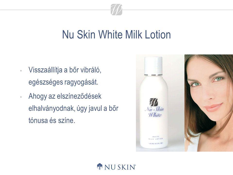 Nu Skin White Milk Lotion  Visszaállítja a bőr vibráló, egészséges ragyogását.  Ahogy az elszíneződések elhalványodnak, úgy javul a bőr tónusa és sz