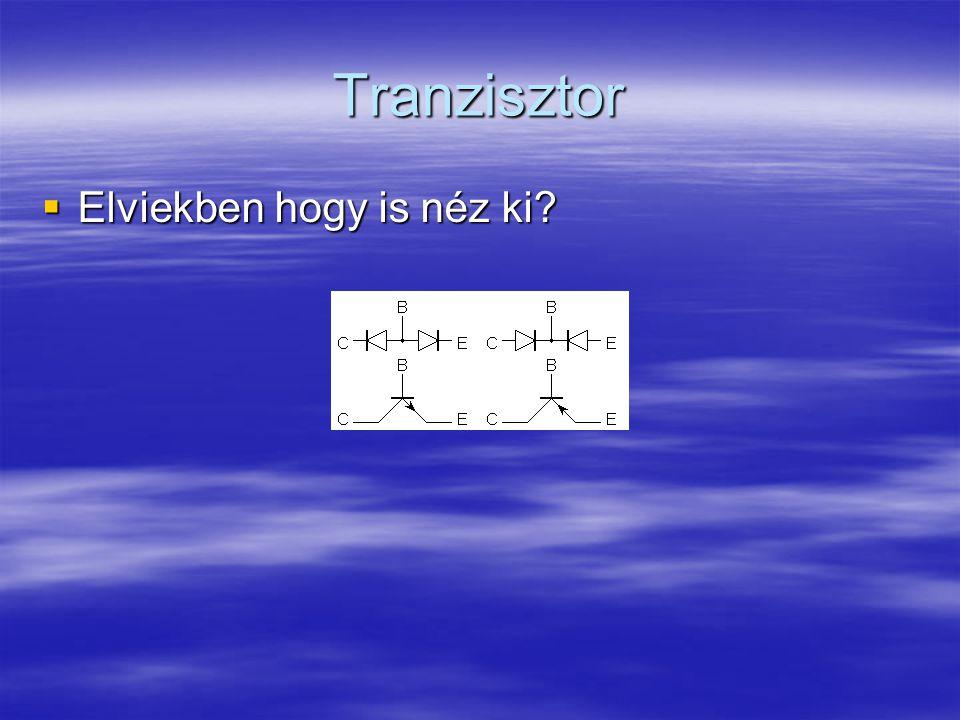 Tranzisztor  Elviekben hogy is néz ki?