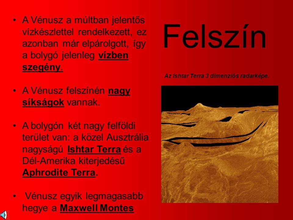 A Magellan űrszonda radar- képei szerint a Vénusz felszíne láva-folyásokkal borított.